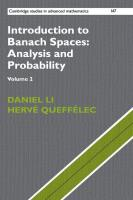 Introduction to Banach Spaces: Analysis and Probability [2]  9781316677391