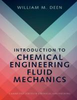Introduction to Chemical Engineering Fluid Mechanics  9781107123779