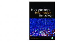 Introduction to Information Behaviour  9781856048507, 9781783301843