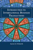 Introduction to International Business Transactions  1839107413, 9781839107412