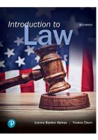 Introduction to Law, 6th Edition [6 ed.]