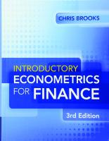 Introductory Econometrics for Finance 3rd Edition [3ed.]  1107661455, 9781107661455
