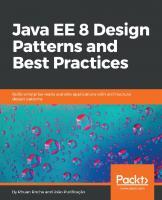 Java EE 8 Design Patterns and Best Practices  9781788830621