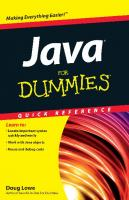 Java For Dummies Quick Reference [1 ed.]