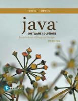 Java Software Solutions [9ed.]  9780134462028, 0134462025