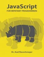 JavaScript for impatient programmers