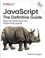 JavaScript: The Definitive Guide: Master the World's Most-Used Programming Language  9781491951989, 1491951982