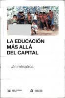 La Educacion Mas Alla Del Capital