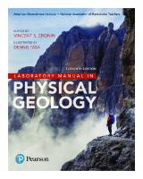 Laboratory Manual in Physical Geology [11ed.]  0-13-444660-7,  978-0-13-444660-8