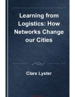 Learning from Logistics: How Networks Change our Cities  9783038210962, 303821096X