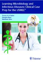 Learning Microbiology and Infectious Diseases: Clinical Case Prep for the USMLE Book