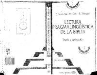 Lectura Pragmalinguistica De La Biblia