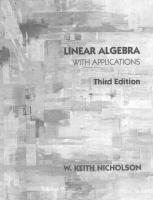 Linear Algebra With Applications [3ed.]