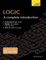 Logic: A Complete Introduction: Teach Yourself (Complete Introductions)  9781473608436, 9781473608443