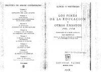 Los Fines De La Educacion Y Otros Ensayos (Scan)