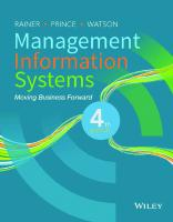 Management Information Systems [4ed.]  9781119339601, 111933960X