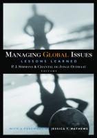 Managing Global Issues : Lessons Learned.  9780870033360, 0870033360