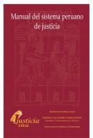 Manual Del Sistema Peruano De Justicia