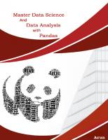 Master Data Science and Data Analysis With Pandas By Arun