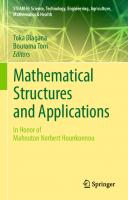 Mathematical structures and applications  9783319971742, 9783319971759
