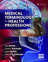 Medical Terminology for Health Professions [8thed.]  9781305634350