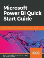 Microsoft Power BI Quick Start Guide: Build dashboards and visualizations to make your data come to life [Kindle Edition]