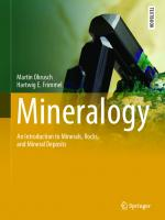 Mineralogy: An Introduction to Minerals, Rocks, and Mineral Deposits [1st ed.]  9783662573143, 9783662573167