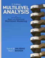 Multilevel Analysis: An Introduction To Basic And Advanced Multilevel Modeling [2ed.]  2011926498, 9781849202008, 9781849202015