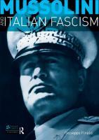 Mussolini and Italian Fascism  1405812532, 9781405812535