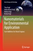 Nanomaterials for Environmental Application: Fuel Additives for Diesel Engines [1st ed.]  9783030547073, 9783030547080