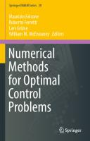 Numerical methods for optimal control problems  9783030019587, 9783030019594
