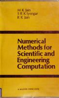 Numerical Methods for Scientific and Engineering Computation