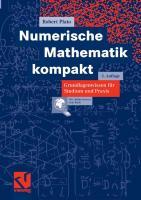 Numerische Mathematik kompakt [2ed.]  3834802778, 9783834802774