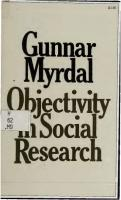 Objectivity in Social Research