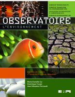 Observatoire : l'environnement : 2e année du 2e cycle du secondaire  9782761324137
