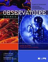 Observatoire : l'humain : manuel de l'élève, 1re année du 2e cycle du secondaire  9782761319997, 2761319990
