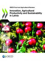 OECD Food and Agricultural Reviews Innovation, Agricultural Productivity and Sustainability in Latvia  9789264312524, 9264312528