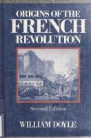 Origins of the French Revolution [2ed.]  0198222831, 9780198222835