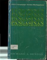 Pangasinan Reference Grammar  0870220721