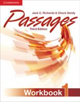 Passages Level 1 Workbook 3rd Edition [3ed.]  9781107627253