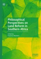 Philosophical Perspectives on Land Reform in Southern Africa [1st ed.]  9783030497040, 9783030497057