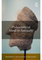 Philosophy of Mind in Antiquity: The History of the Philosophy of Mind [1]  1138243922, 9781138243927