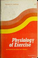 Physiology of exercise for physical education and athletics [2ed.]