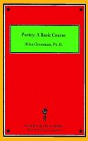 Poetry: a basic course