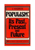 Populism: Its Past, Present and Future