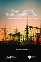 Power Systems Control and Reliability: Electric Power Design and Enhancement [1ed.]  1771888210, 9781771888219