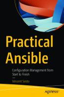 Practical Ansible: Configuration Management from Start to Finish [1st ed.]  9781484264843, 9781484264850