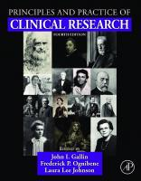 Principles and Practice of Clinical Research [4ed.]  9780128499054