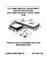Principles of Epidemiology and Microbiology MD0151 [100ed.]
