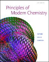 Principles of Modern Chemistry [6thed.]  0534493661, 9780534493660